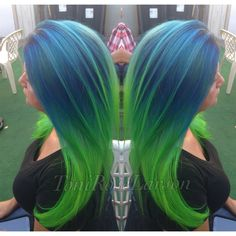 HOW TO: Blue/Green Colormelt By, Toni Rose Larson