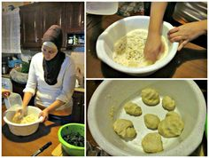 Dough making for the spanakopita triangles during the Greek cooking class in Crete! #Greece #greekfood #greekcuisine