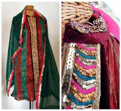 Vintage Hindi Indian 2piece Dress in Blood Red by BaileysBoudoir, $39.00