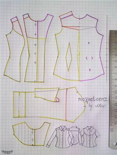 Moxie Teenz pattern - wealth of info on Russian Moxie Teenz forumWestern shirt specifically for Moxie Teenz. It's in Russian but could easily be modified for any fashion doll. Sewing Doll Clothes, Doll Clothes Barbie, Sewing Dolls, Barbie Dress, Barbie Sewing Patterns, Doll Dress Patterns, Clothing Patterns, Barbie Et Ken, Barbie Mode