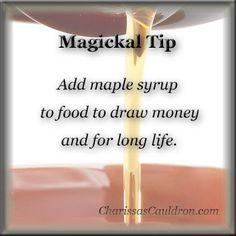 Magickal Tip - Maple Syrup – Charissa's Cauldron