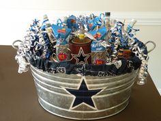 Husband's Dallas Cowboys birthday gift filled with big boy stuff