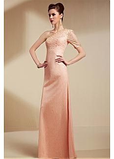 Charming Malay Satin One Shoulder Neckline Floor-length Sheath Prom Dress. Get superb discounts up to 60% Off at Dressilyme with Coupon and Promo Codes.