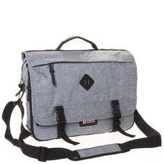 a863671e45 Látková pánská taška přes rameno světle šedá - Enrico Benetti 4548