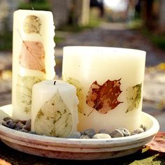 These #candles are SO elegant! What a great #fall idea! This would go beautifully on my mom's table this season.