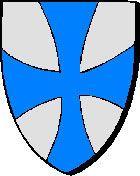 Argentré-du-Plessis : d'argent, à la croix pattée d'azur * Arc'hantred : en arc'hant, e groaz pavek en glazur