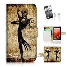 HTC ONE M7 Print Flip Wallet Case Cover! Nightmare Before Christmas P1369