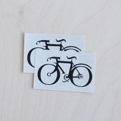 type bike temporary tattoo