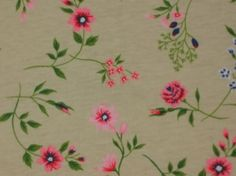 Banberry Place: Wildflower Beige Jersey Knit Fabric
