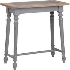Finished in a grey tone, this wooden console table creates a welcoming entryway focal point adorned with fresh flowers or framed family photos. Decor, Furniture, Table, Wooden Console Table, Entryway Tables, Space Interiors, Console Table, Entryway, Home Decor