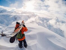 Photo of the Day! When you realize this line is going to be sick. #GoPro #GoProSki