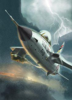 <p>Republic F105 D Thunderchief Fana de l