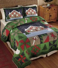 GINGERBREAD CANDY CANE CHRISTMAS TREE QUILT COMFORTER SHAM SNOW MAN Valance New in Home, Furniture & DIY, Bedding, Decorative Quilts & Bedspreads | eBay