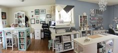 Since we are going to be moving in a few short months to a temporary location for 6 months then off to Colorado for our permanent home, I have started dreaming of my what my office/craft room will … Office Org, Home Office, Office Desk, Ikea Craft Room, Sewing Rooms, Craft Organization, Home Crafts, 6 Months, Colorado