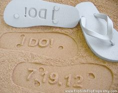 Cute for a beach wedding. Or gift to the bride!