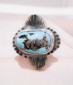 Wild Wind Song Turquoise Ring  // Sterling by TarnishedAndTrue, $74.00