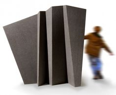 Fold - roomdivider in recycled felt - by Wim Segers
