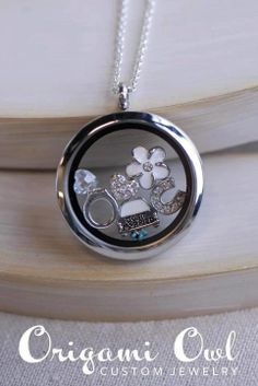 Just Married Origami Owl Living Locket CourtneyMasters.OrigamiOwl.com