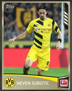 e5301ff9927 Nevin Subotic Borussia Dortmund (Bundesliga) Gold Parallel Card 2015 Topps  KICK