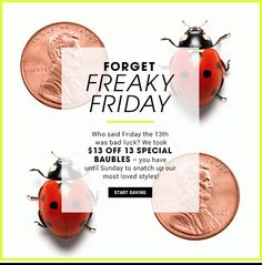 $13 Off 13 Styles: Friday the 13th Just Got Lucky! - sshruti96@gmail.com - Gmail Friday The 13th, Abandoned, Cart, Layout, Blog, Left Out, Covered Wagon, Page Layout, Blogging
