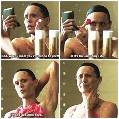 Rayon in Dallas Buyers Club. This part made me cry and I usually don't cry during movies.