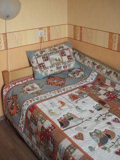 """Детское лоскутное одеяло """"Прекрасная сова"""" - Babyblog.ru"""