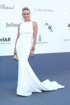 Sharon Stone de Roberto Cavalli - Gala amfAR en Cannes 2013