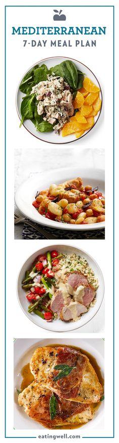 7-Day Mediterranean Diet Meal Plan to Lose Weight