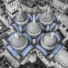 Cathedrale Saint-front, Perigueux, France.  Photo taken from a drone.