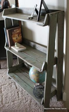 Pallet Bookshelf - might have to find me TWO pallets and make a bookshelf to match the headboard!! by Steamatic