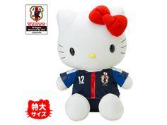 Hello Kitty x Japanese Men's Football Soccer Team Jumbo Plush Doll JFA Official