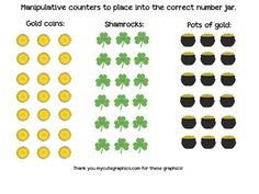 St. Patrick's Day/March Math Jar Center Numbers 1-30