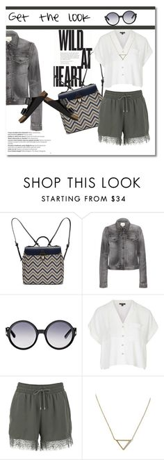 Get the look by vkmd on Polyvore featuring Topshop, Citizens of Humanity, ONLY, Birkenstock, Jam Love, Banana Republic, Tom Ford, Balmain and GetTheLook