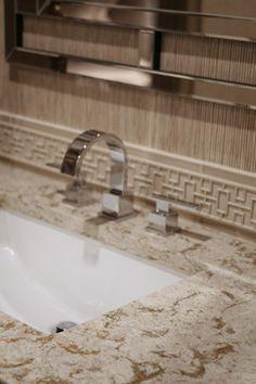 Cambria Windermere bathroom countertop in Jodi Cobb Design by Atlanta Kitchen