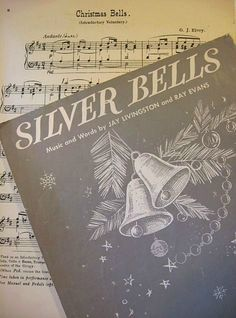 Silver Bells- I remember when my Momma used to play the piano for us on Christmas Eve. Our copy looked just like this. I wonder if we still have it somewhere? Favorite Christmas Songs, Christmas Time Is Here, Merry Christmas To All, Silver Christmas, Christmas Music, Retro Christmas, Christmas Bells, Christmas Colors, All Things Christmas