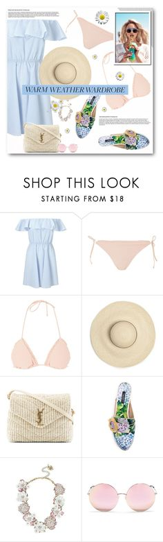 """""""How to Dress for a Heat Wave"""" by anitadz ❤ liked on Polyvore featuring Miss Selfridge, Topshop, Wildfox, Yves Saint Laurent, Dolce&Gabbana, Betsey Johnson, Matthew Williamson and heatwave"""