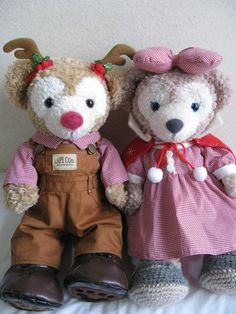Super CUTE! Duffy the Disney Bear Reindeer Overalls & ShellieMay