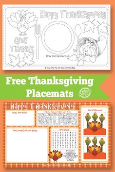 Things can get a bit hectic at the dinner table when everyone is waiting for the food however these cute Thanksgiving placemats should keep the little ones busy!