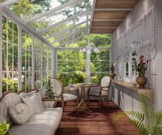 49 Popular Sun Room Design Ideas For Relaxing Room. One of the most common and beautiful home additions that you can add to your home is a sun room. They have many names, such as patio rooms and conse. Outdoor Areas, Outdoor Rooms, Outdoor Living, Glass House Design, Glass House Garden, Sunroom Addition, Relaxation Room, Relaxing Room, Double Vitrage