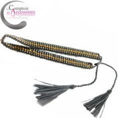 Bracelet Bohème, bracelet Hippie Chic, Made in Bali, couleur gris ardoise #bracelet #bali #bracelets boheme  http://www.comptoirdesaccessoires.com/6918-3284-thickbox/bracelet-hippie-chic-esprit-boheme-de-bali-pour-ce-bracelet-de-perles-enlacees-couleurs-gris-ardoise.jpg