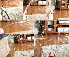 gartenideen für gartendeko mit drahtkugeln_diy gartenkugel anleitung