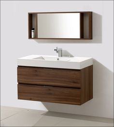 Meuble Sous Vasque Salle Bain Fixation Murale Facade Bois Patine BIANCHINI  CAPPONI | Small Bathrooms Ideas For My Small Bathroom | Pinterest | Small  ...
