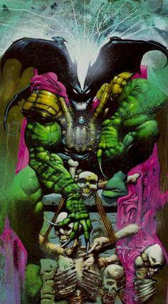 Fantasy Art of Simon Bisley Simon Bisley, Comic Book Artists, Comic Artist, Comic Books Art, Batman, Spiderman, Conan O Barbaro, Marvel Comics, Heavy Metal Art