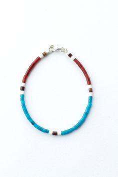 Coyote Heishi Bead Bracelet - Blue