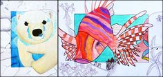 Watercolor activity with lesson plan, sketchbook activity, and rubric.