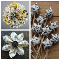 Sheet music crafts for music lovers!!