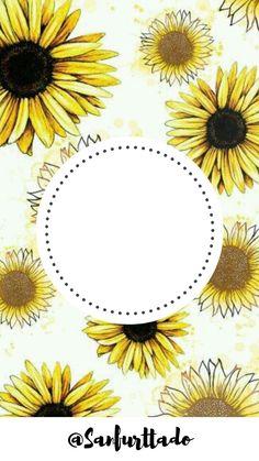 Monogram Wallpaper, Sunflower Party, Beautiful Nature Wallpaper, Instagram Highlight Icons, Flower Frame, Pattern Wallpaper, Cute Art, Background Images, Blue Flowers