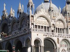 Blending the architectural styles of East and West, Venices magnificent basilica was consecrated in 832 AD as an ecclesiastical building to house the remains of St. Mark