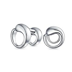 Bling Jewelry Gift Mens Sterling Silver Eternal Circle Cuff Links  Price…
