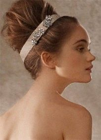 Headband, Vera Wang. #wedding #vera wang one-day-i-ll-have-a-wedding